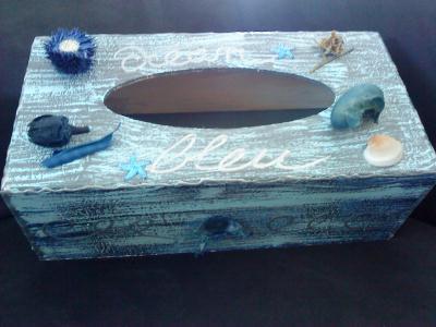 D coration boite a mouchoirs en bois cr ation d coration - Decoration boite en bois ...