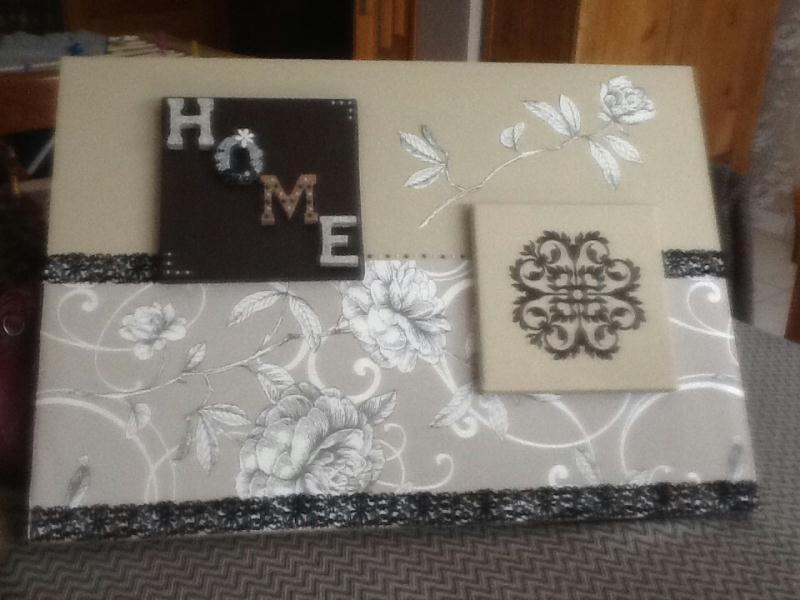 cr ation tableau r alis avec de la tapisserie cr ation. Black Bedroom Furniture Sets. Home Design Ideas