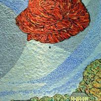 Création Mosaïque : La rose de Cuisery.