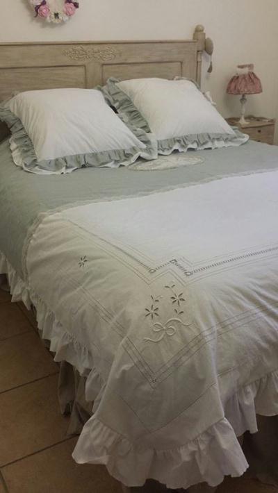 Cr ation parure de lit housse de couette gris gustavien for Couture housse de couette