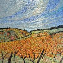 Création mosaïque : Les vignes de Pupillin.Jura