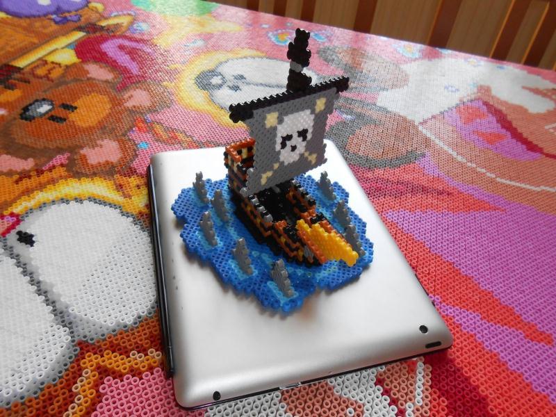 cr ation 3d bateau pirate cr ation perles repasser hama de hardy8676 n 51 945 vue 6 699 fois. Black Bedroom Furniture Sets. Home Design Ideas