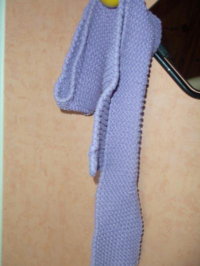 Echarpe tricot e grosse laine cr ation tricot de justine n 52 068 vue 783 fois - Grosse echarpe en laine ...