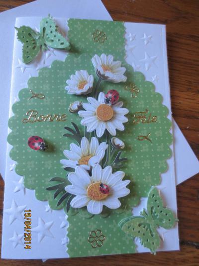 Cr ation carte fleurs pour fete des meres cr ation carterie faire part de eolias n 52 196 - Creation fete des meres ...