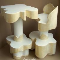 Création d'une Table et chaise haute en carton