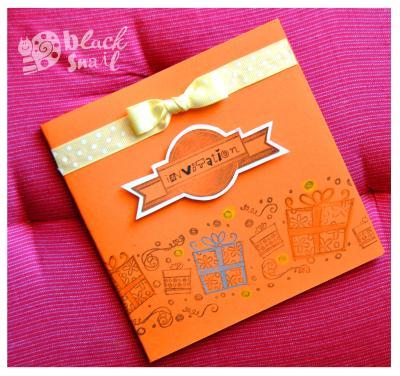 cr ation d 39 une carte d 39 invitation vitamin e orange pour la f te d 39 anniversaire cr ation. Black Bedroom Furniture Sets. Home Design Ideas
