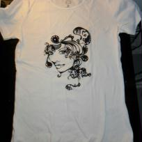 Customisation tee shirt avec flocage en velours
