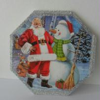 Création d'un sous plat servietté de Noël