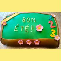 Création gâteau pour la fin d'année scolaire