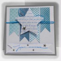 Création carte d'anniversaire bleue (Homme)