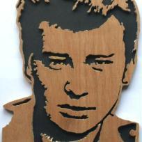 Gravure portrait sur miroir de mylene farmer cr ation for Miroir johnny hallyday