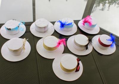 cr ation de bo tes chocolats chapeaux miniatures