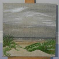 Création aquarelle sur toile : A la poursuite du soleil aquarelle sur toile de lin 3D