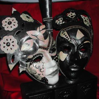 Création d'un double masque: lampe  boite de rangement