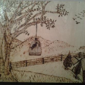cr ation poesie de imam ach chafii en ecriture arabe pyrograve sur une plaque en bois. Black Bedroom Furniture Sets. Home Design Ideas