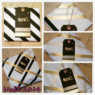Création de paquets cadeaux de Noël Blanc Noir et Doré