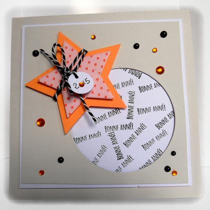 Cr ation carte de voeux en gris orange et noir cr ation - Creation carte de voeux ...