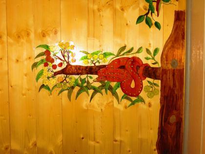 Cr ation d 39 un serpent peinture vitrail sur papier rhodoid - Peinture effet serpent ...