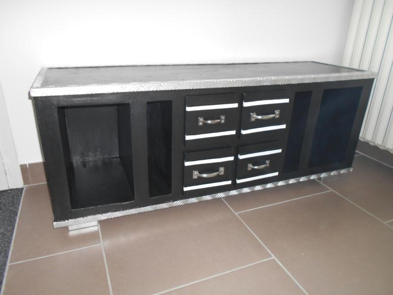 Cr ation d 39 un cart 39 alu meuble tv en carton et alu cr ation meuble e - Meuble payable en plusieur fois ...