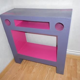 cration plumrose en carton with fabriquer une coiffeuse. Black Bedroom Furniture Sets. Home Design Ideas