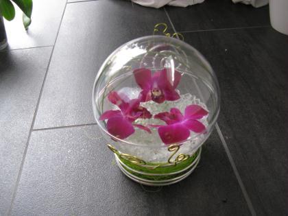 Cr ation d 39 un cadeau dans une boule en plastique - Boule plastique transparente ...