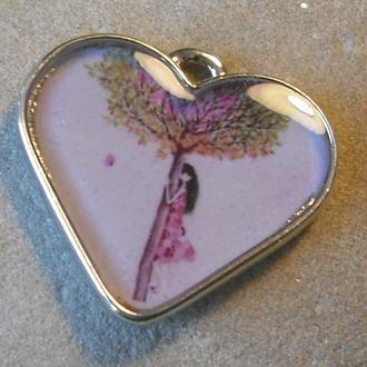 Création de Pendentif en métal inoxydable en forme de coeur
