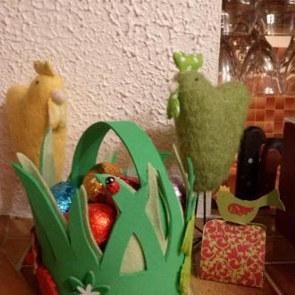 Création d'un panier de Pâques pour la table de fête