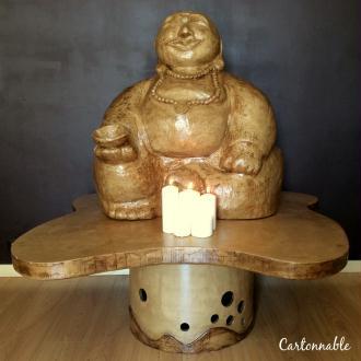 Bouddha rieur en papier mâché
