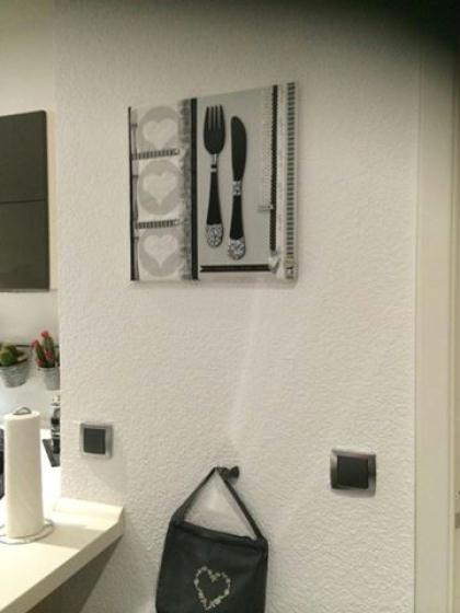 Cadre deco ustensiles de cuisine cr ation d copatch de for Deco cuisine cadre