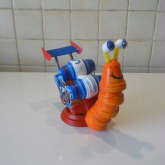 """Création  """" Turbo """" l'escargot qui rêve de faire la course"""