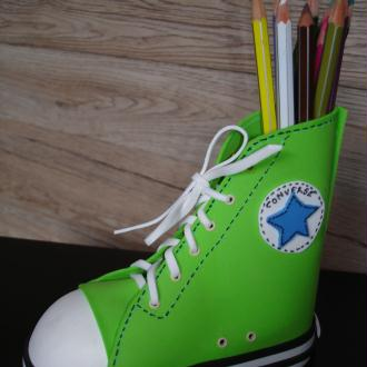 Création porte-crayons chaussures