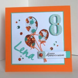 """Création Carte d'anniversaire technique de la """"Shaker Box"""""""