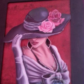 Création Tableau La Femme au chapeau