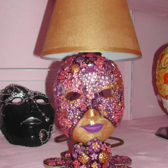 Création Lampe Masque pour chambre fillette