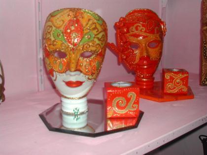cr ation bougeoir masque venise d coratif cr ation. Black Bedroom Furniture Sets. Home Design Ideas