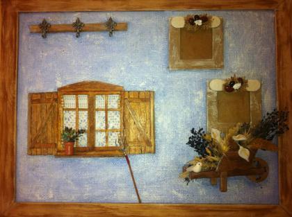 cr ation tableau porte cl s et photos cr ation maquettes et miniatures de marieclaire7969 n. Black Bedroom Furniture Sets. Home Design Ideas