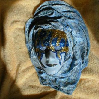 Création Masque décoratif à suspendre - Bleu