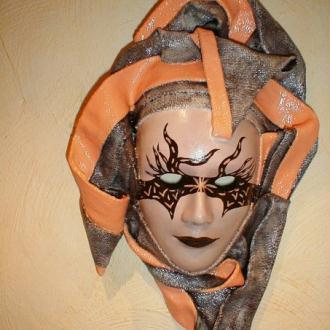 Création Masque décoratif à suspendre - Orange