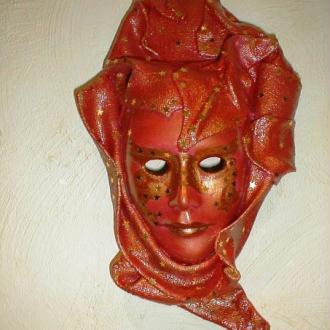 Création Masque décoratif à suspendre - Orangé rouge