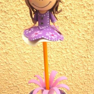 Création Porte crayon princesse violette fofuchas