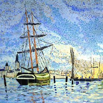 Création mosaïque : La Seine à Rouen - influence Claude Monet.