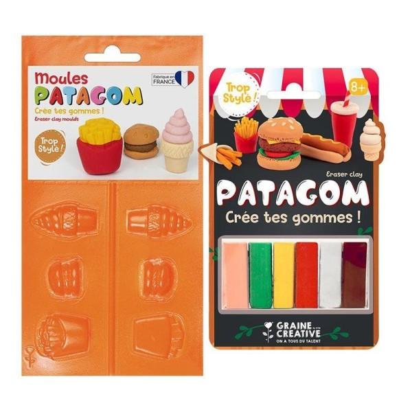 Gomme à modeler et moules Patagom - Junk Food - Photo n°1