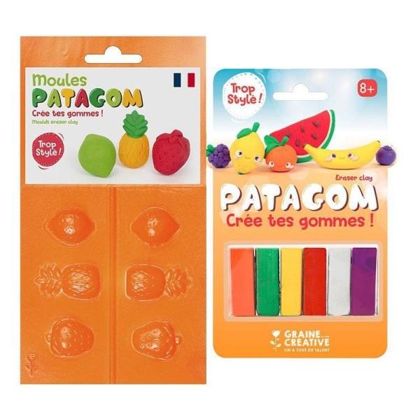 Gomme à modeler et moules Patagom - Fruits - Photo n°1