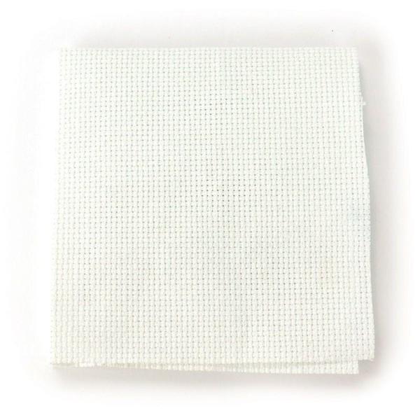 Toile Aida 5,5 pts/ cm blanche 35 x 35 cm - Photo n°2