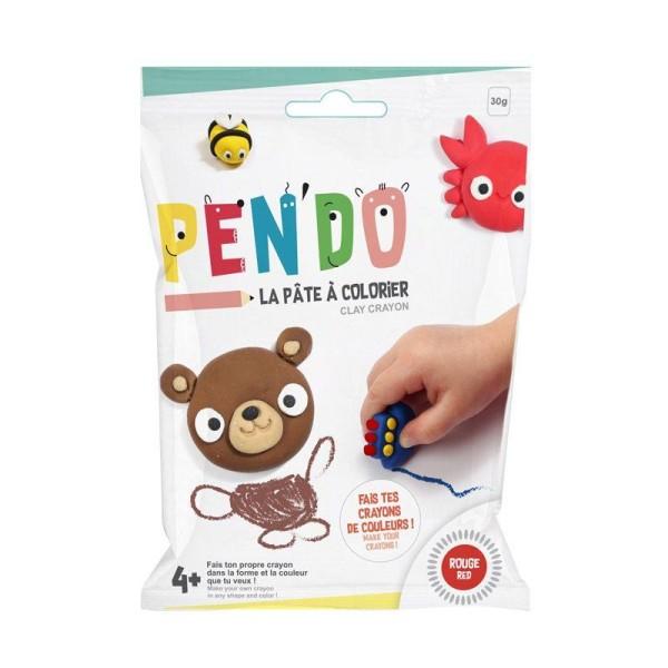 Pâte pour fabriquer ses crayons de couleurs Pen'do - rouge 30 g - Photo n°1
