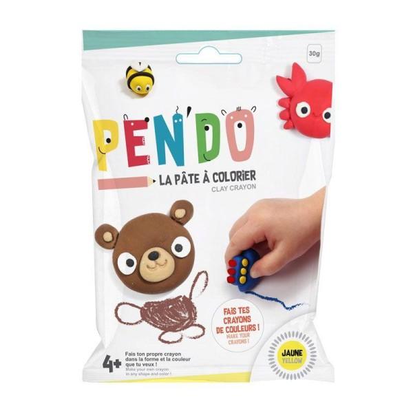 Pâte pour fabriquer ses crayons de couleurs Pen'do - jaune 30 g - Photo n°1