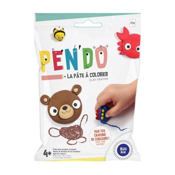 Pâte pour fabriquer ses crayons de couleurs Pen'do - bleu 30 g - Photo n°1