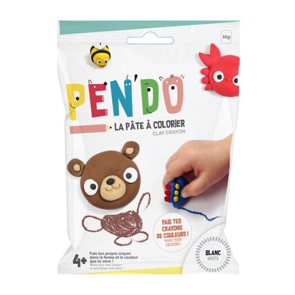 Pâte pour fabriquer ses crayons de couleurs Pen'do - blanc 30 g - Photo n°1
