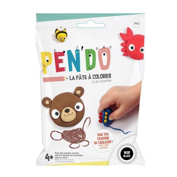 Pâte pour fabriquer ses crayons de couleurs Pen'do - noir 30 g - Photo n°1