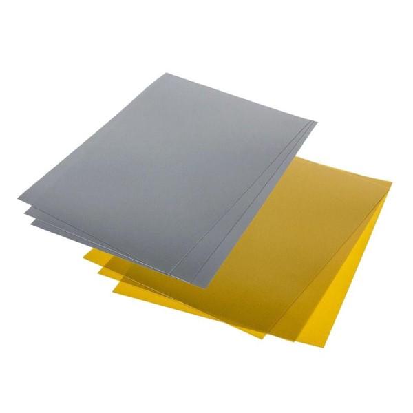 Plastique dingue 14 feuilles métallisées - or-argent - Photo n°1